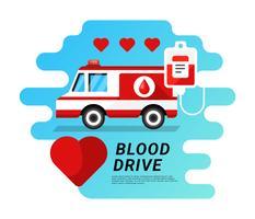 Conceito de ilustração de unidade de sangue vetor