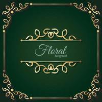 fundo floral decorativo luxuoso de ouro vetor