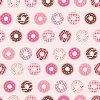 padrão de rosquinha pinky vetor