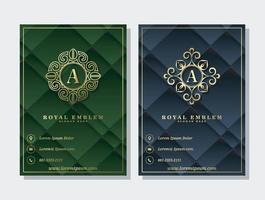 capa de negócio abstrato geométrico de luxo e modelo de ornamento de logotipo vetor
