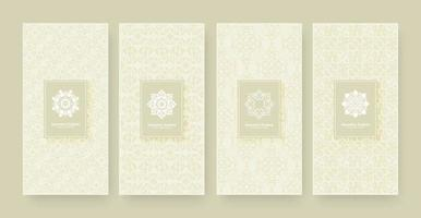 Fundo de design de padrão de ornamento de banner elegante vetor