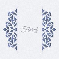 fundo de moldura de ornamento decorativo elegante vetor