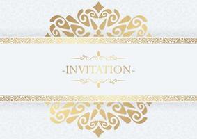 fundo de design de moldura decorativa de convite elegante vetor
