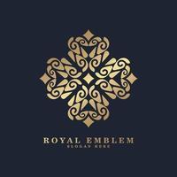 logotipo de linha de arte de estilo ornamento de luxo vetor