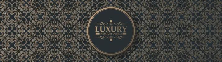 fundo de design de padrão de ornamento escuro luxuoso vetor