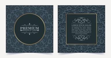 cartão decorativo floral escuro de luxo vetor