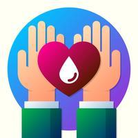 Sinal de doação de sangue e ilustração de símbolo vetor