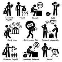 pictograma de responsabilidade comercial da empresa. vetor