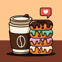 Donuts Ilustração vetor