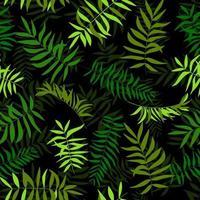 folhas verdes sem emenda. fundo tropical. impressão para teia, tecido e papel de embrulho.