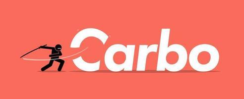 corte de carboidratos ou carboidratos para uma dieta saudável.