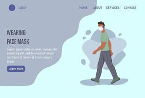 modelo de página da web de destino da página inicial do site.