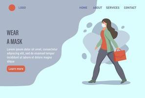 usar uma máscara de página inicial de site ou modelo de página de destino