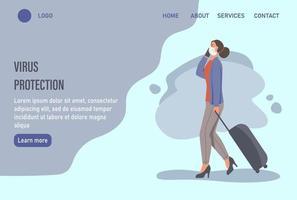 página inicial do site de proteção contra vírus ou modelo de página de destino
