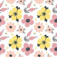 padrão de primavera sem costura com flores. vetor 1 .eps