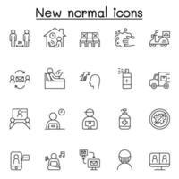 novos ícones normais definidos em estilo de linha fina