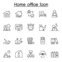 freelance e trabalho em conjunto de ícones de casa. coleção de ícones lineares da web simples, como trabalho de casa, trabalho distante, freelance, videoconferência online, trabalho online e muito mais.