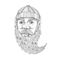 arte do doodle do lenhador paul Bunyan
