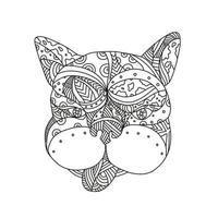bulldog francês doodle arte vetor