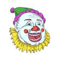 desenho de palhaço de circo vintage sorrindo