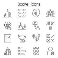 ícones de pontuação definidos em estilo de linha fina vetor