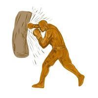 saco de pancadas do boxer