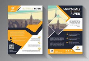 conjunto de modelos de negócios de panfleto amarelo