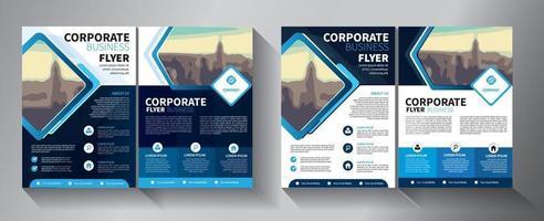 modelo de vetor abstrato de negócios. design de brochura, layout moderno de capa, relatório anual, pôster, folheto em a4 com triângulos coloridos, formas geométricas para tecnologia, ciência, mercado com fundo claro