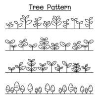 pequena árvore padrão paisagem, arbusto fundo vetor ilustração design gráfico