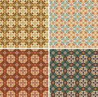 padrões de azulejos de vetor floral geométrico ornamentado sem costura