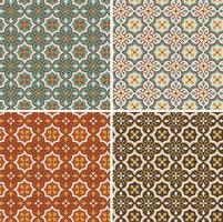 padrões de azulejos de vetores geométricos ornamentados sem costura