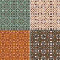 padrões de mosaico de vetores geométricos intrincados ornamentados sem costura