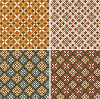 padrões decorativos ornamentados de azulejos de vetores geométricos
