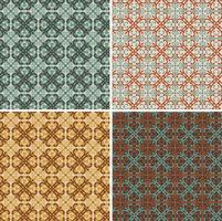 Padrões de azulejos decorativos geométricos decorativos ornamentados sem costura