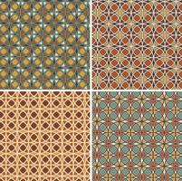 padrões de azulejos de vetor geométrico circular ornamentado