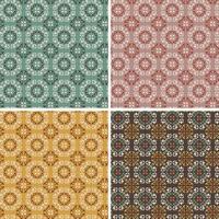 padrões de azulejos de vetor geométrico ornamentado