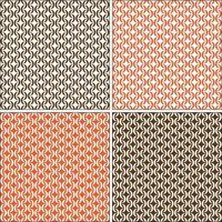 mod sem costura padrões geométricos vetoriais branco laranja marrom