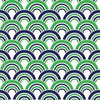 mod azul verde sem costura vieira padrões geométricos vetoriais
