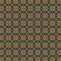 Néon padrão sem emenda floral ornamentado em fundo preto