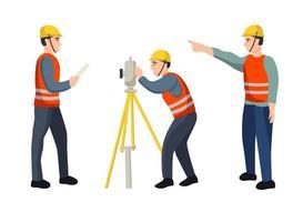 conjunto de trabalhadores da construção vetor