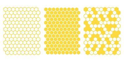 vetor de grade de favo de mel hexagonal amarelo