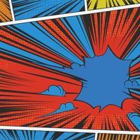 fundo de história em quadrinhos vintage vetor