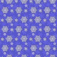 padrão de flocos de neve de inverno sem emenda. vetor