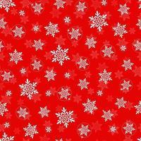 vetor Natal e ano novo sem costura padrão com flocos de neve. padrão sem emenda vermelho.