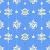 padrão de inverno sem costura com flocos de neve brancos no azul. vetor