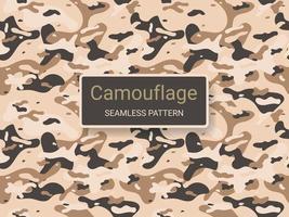 exército e camuflagem militar textura sem costura de fundo vetor