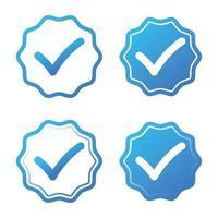 conjunto de ícones aprovado vetor