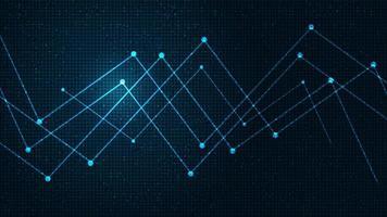 futuro microchip de rede sobre fundo de tecnologia, alta tecnologia, segurança e design de conceito de compartilhamento vetor