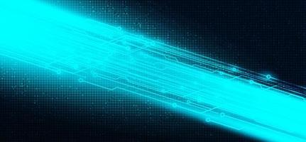 luz de velocidade futura em fundo de tecnologia de circuito de microchip, design de conceito digital de alta tecnologia e internet vetor