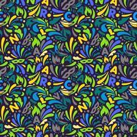 padrão sem emenda abstrato colorido. modelo de design de carnaval brasileiro vetor